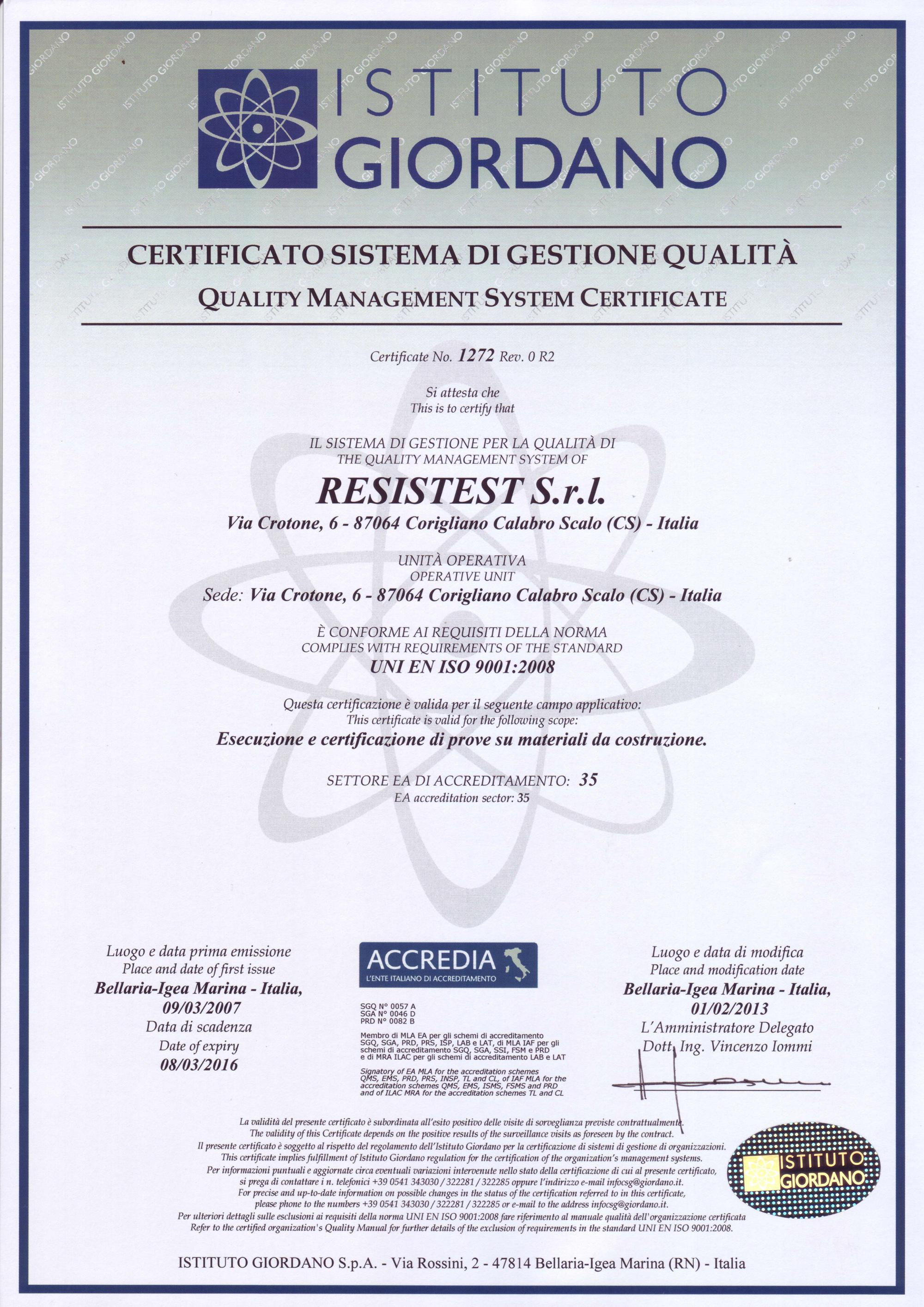 CertificatoQual